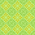 Green-yellow wallpaper pattern Royalty Free Stock Photo