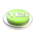 Green yes button glossy Royalty Free Stock Photo