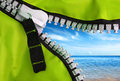 Green Zipper Royalty Free Stock Photo