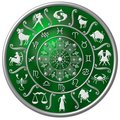 Green zodiac disc Stock Image
