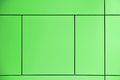 Greenery. Green background crossed by lines forming squares and rectangles in an abstract architectural wall.