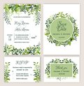 Greenery Wedding Invitation Suite Printable.
