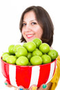 Greengages Presented Royalty Free Stock Image