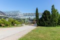 Greenhouse in the botanical garden of berlin big Royalty Free Stock Photos