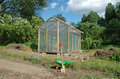 Greenhouse in garden Stock Photos