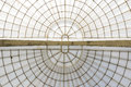 Greenhouse symmetrical dome horizonal structure seen from below Royalty Free Stock Photo