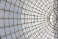 Greenhouse symmetrical dome structure seen from below Royalty Free Stock Photo