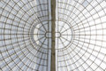 Greenhouse symmetrical dome vertial structure seen from below Royalty Free Stock Photo