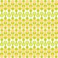 Greenish metaball seamless pattern and yellow beige stylized knitting patternr Stock Image