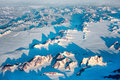 Greenland early morning aerial view of in the Stock Image