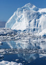 Greenland nature and landscapes of travel on the scientific vessel among ices studying of a phenomenon of global warming ices and Stock Photography