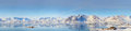 Greenland panorama shoot in spring time Royalty Free Stock Images
