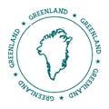 Greenland vector map.