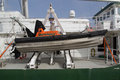 Greenpeace valencia spain june s small craft on the rainbow warrior at the port of valencia is a nongovernmental Stock Photo