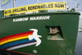 Greenpeace valencia spain june s vessel the rainbow warrior at the port of valencia is a nongovernmental environmental Royalty Free Stock Photography