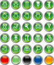 Greenroundbuttons Royalty Free Stock Photos