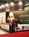 Greens food at tuttofood milano world food exhibition people visit area event during the week Royalty Free Stock Images