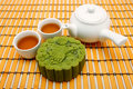 Greentea Mooncake Stock Photography