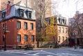 Greenwich Village Street Scene in Manhattan New York City Royalty Free Stock Photo