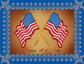 Greeting Card - 4th July Royalty Free Stock Photo