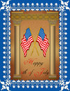 Greeting Card - 4th July Stock Photography