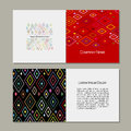 Greeting card, abstract geometric design