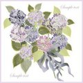 Greeting card with a bouquet of hydrangea. Stock Photography