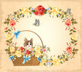 Greeting card with cat Royalty Free Stock Photo