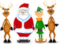 Greeting Card Christmas with deer,vector Royalty Free Stock Photo