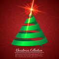 Greeting card with christmas tree this is file of eps format Royalty Free Stock Photography