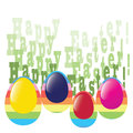 Greeting card colorful eggs Stock Photography