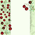 Greeting card cranberries on a branch vector Royalty Free Stock Photo