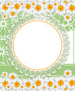Greeting card with daisies and abstracts backgroun background chamomile flower Stock Images