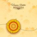 Greeting card with Decorative Rakhi for Raksha Bandhan background