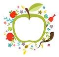 Greeting card design for jewish new year rosh hashanah vector illustration Stock Photos