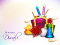 Greeting card for Diwali celebration Royalty Free Stock Photos