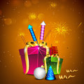 Greeting card for Diwali celebration in India. Stock Images