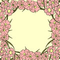 Greeting card. Floral background. Poster. Frame.