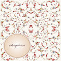Greeting card with flower Royalty Free Stock Photo