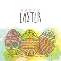 Greeting card for Happy Easter celebration.