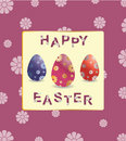 Greeting card happy easter vector Royalty Free Stock Photography