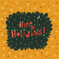 Greeting Card Happy Holidays