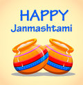 Greeting card Happy Janmashtami.