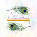 Greeting card for happy Janmashtami.