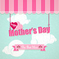 Greeting card happy mothes day vintage mothers Stock Images