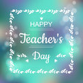 Greeting card for Happy Teachers Day. Abstract background and text in square frame in vector format Royalty Free Stock Photo