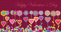 Greeting card Happy Valentines Day Stock Images