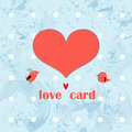 Greeting card with a heart Royalty Free Stock Photos
