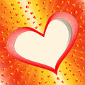 Greeting card with heart. Royalty Free Stock Image