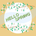 Greeting card - Hello spring.